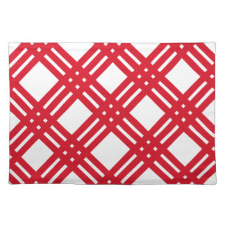 Red and White Gingham Placemat