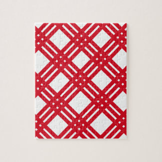 Red and White Gingham Jigsaw Puzzles