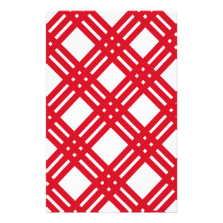 Red and White Gingham Stationery