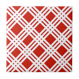 Red and White Gingham Tile