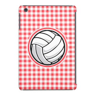 Red and White Gingham Volleyball iPad Mini Retina Cases