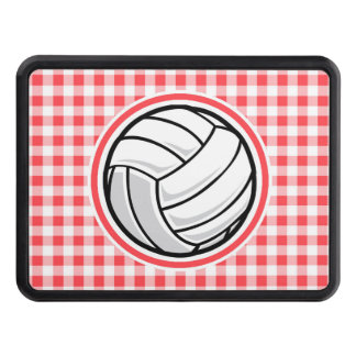 Red and White Gingham; Volleyball Hitch Cover