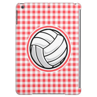 Red and White Gingham Volleyball Cover For iPad Air