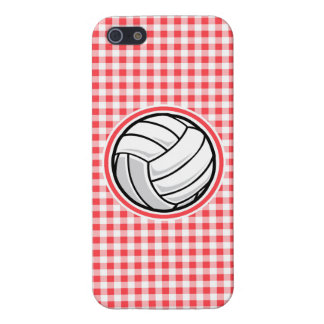 Red and White Gingham; Volleyball iPhone 5/5S Cases