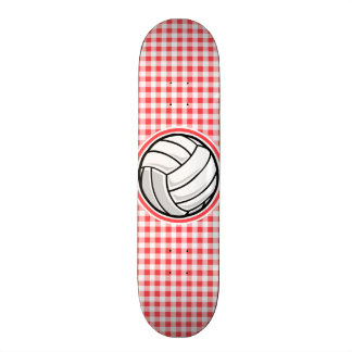 Red and White Gingham; Volleyball Skateboard Decks