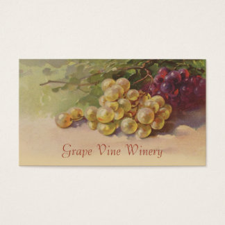 Red and white grapes fruit sales business card