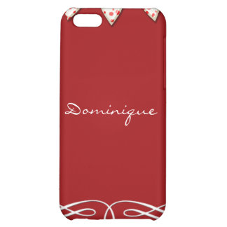 Red and White Heart Banner Case For iPhone 5C