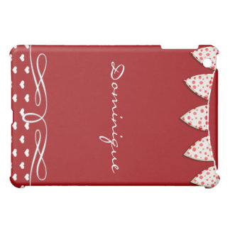 Red and White Heart Banner Case For The iPad Mini