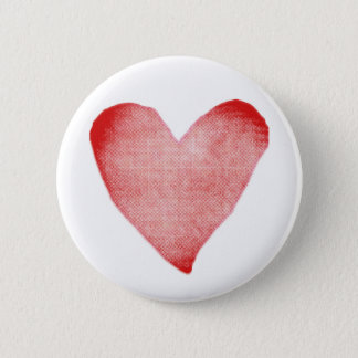Red and White Heart Button