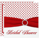 Red and White Hearts Bridal Shower Invitation