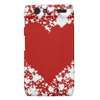 Red and white hearts Case-Mate Case Motorola Droid RAZR Covers