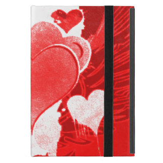 Red and White Hearts with Skateboard and wings Case For iPad Mini
