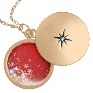 Red and White Holiday Christmas Bauble Design Pendants