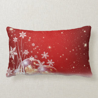 Red and White Holiday Christmas Bauble Design Pillows