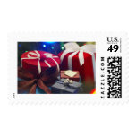 Red And White Holiday Gifts Stamps