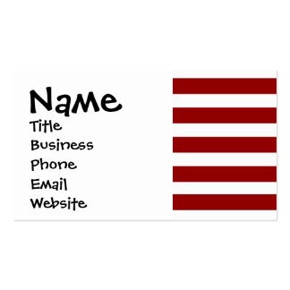 Red and White Horizontal Stripes Pattern Business Card Template