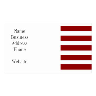 Red and White Horizontal Stripes Pattern Business Card