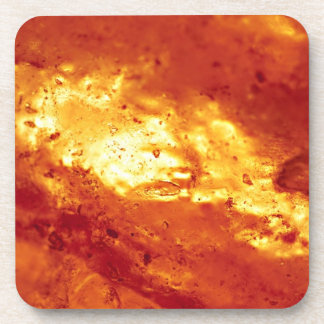 Red and White Hot Lava Coaster