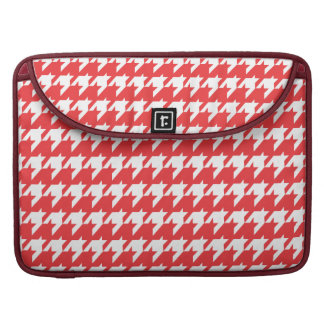 Red and white houndstooth sleeve for MacBook pro