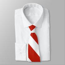 Red and White III University Stripe Tie