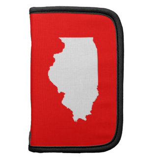 Red and White Illinois Folio Planners