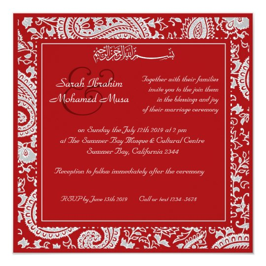 Red And Gold Muslim Wedding Invitation Card Ssc10r: Dragon Phoenix Red Gold Chinese Wedding Invitation