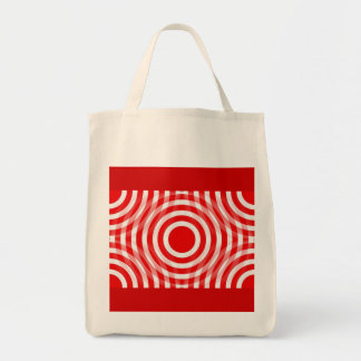 red_and_white_interlocking_concentric_circles tote bag