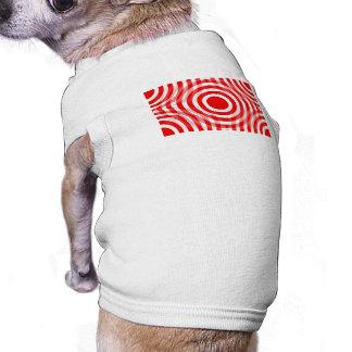 red_and_white_interlocking_concentric_circles playera sin mangas para perro
