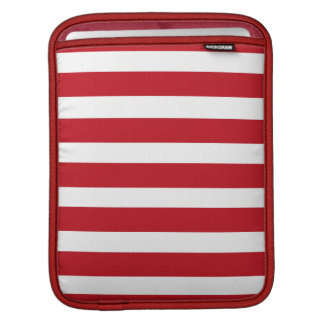 Red and White iPad Sleeve