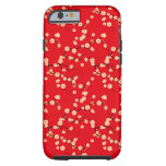 Red and White Japanese Cherry Blossoms Pattern iPhone 6 Case