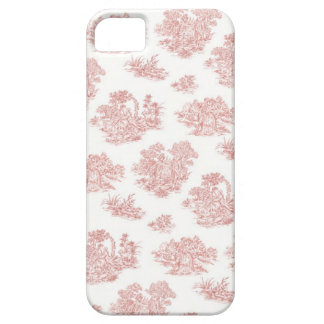 Red and white Jouy print iPhone SE/5/5s Case