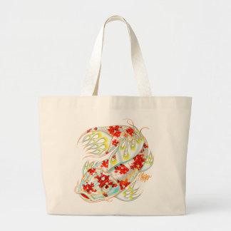 Red and White Koi Bag