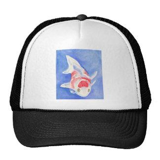red and white Koi Trucker Hat