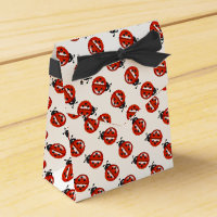 Red And White Ladybugs Party Favor Box
