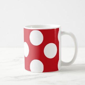 Red and White Large Polka Dot Mug