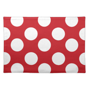 Red And White Large Polka Dot Placemat