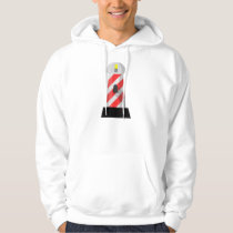 Red And White Lighthouse Mens Hoodie
