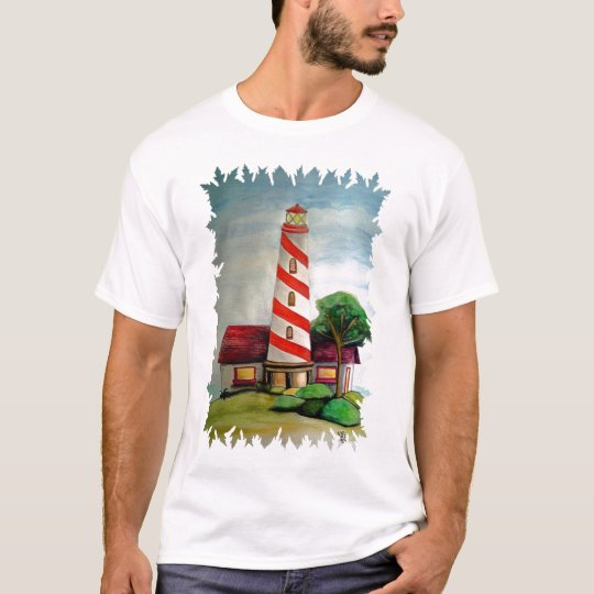Red and white lighthouse T-Shirt
