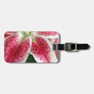 Red and White Lily Tags For Bags