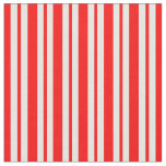 [ Thumbnail: Red and White Lined Pattern Fabric ]