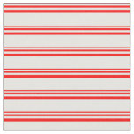 [ Thumbnail: Red and White Lined/Striped Pattern Fabric ]