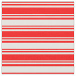 [ Thumbnail: Red and White Lines Fabric ]