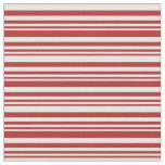 [ Thumbnail: Red and White Lines/Stripes Pattern Fabric ]