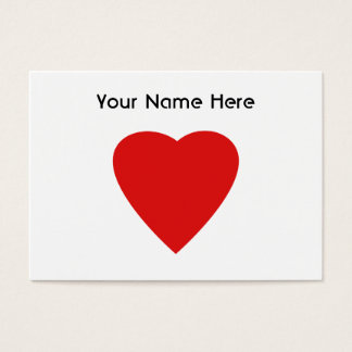 Red and White Love Heart Design. Business Card