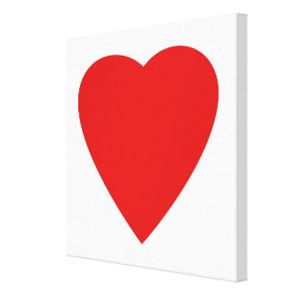 Red and White Love Heart Design. Canvas Print
