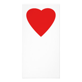 Red and White Love Heart Design. Card