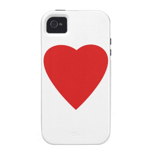 Red and White Love Heart Design. iPhone 4/4S Case