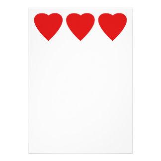 Red and White Love Heart Design Custom Invitation