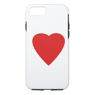 Red and White Love Heart Design. iPhone 7 Case