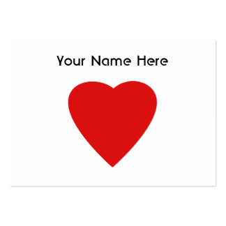 Red and White Love Heart Design. Large Business Card